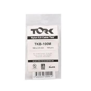 Tork TKB-100M 2.5-100 Beyaz Kablo Baðý 100lü Paket