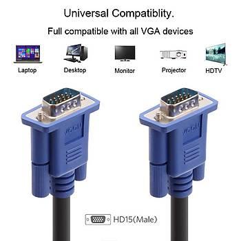 Vcom CG341AD-35.0 Mavi Konnektör Siyah 35MT Vga-M-Vga-M Kablo