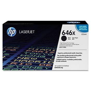 HP 646X Black Siyah Yüksek Kapasite 17.000 Sayfa Toner CE264X