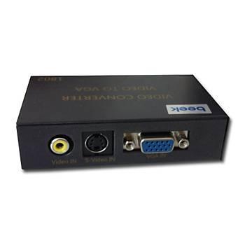 Beek BS-1802 Kompozit Video&S-Video Sinyalini VGA Çevirici