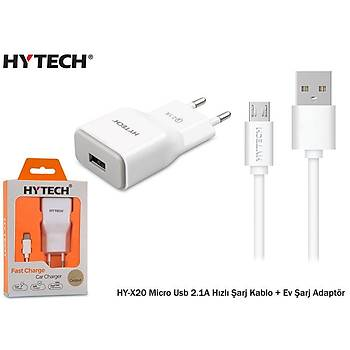 Hytech HY-X20 Micro Usb 2.1A Hýzlý Þarj Kablo + Ev Þarj Adaptör