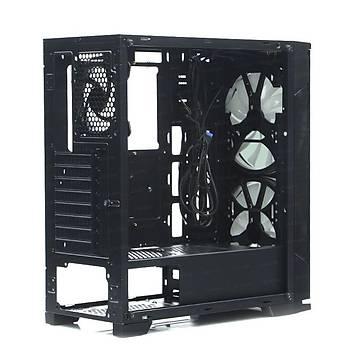 Dark Prestige 2x20cm, 1x12cm RGB LED Fan, USB 3.0 Temperli Cam ATX Oyuncu Kasasý