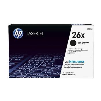 HP 26X Black Siyah Yüksek Kapasite 9.000 Sayfa Toner CF226X