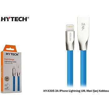 Hytech HY-X305 3A iPhone Lightning 1M, Mavi Þarj Kablosu