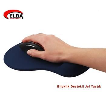 Elba K06152 Bileklikli Jel Mouse Pad Mavi