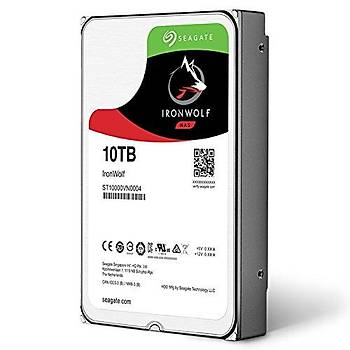 """Seagate 10TB Ironwolf ST10000VN0008 3.5"""" 256MB 7200 Rpm Nas Disk Harddisk"""