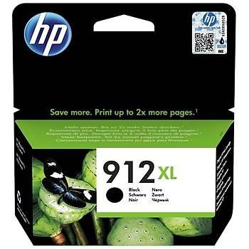 HP 912XL Yüksek Kapasite Black SiyahKartuþ 3YL84A