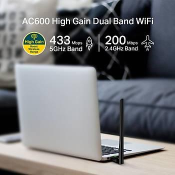 Tp-Link Archer T2U Plus 600 Mbps Antenli Yüksek Verimli Kablosuz USB Adaptör AC600