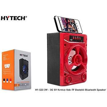 Hytech HY-S23 3W - DC 5V Kýrmýzý Usb-TF Destekli Bluetooth Speaker