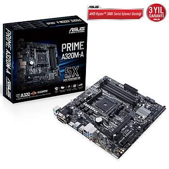 Asus Prime A320M-A AMD DDR4 3200Mhz M2 Dvi-Vga-Hdmi mATX Anakart