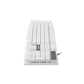 Everest KB-X8 Beyaz Q Usb Kablolu Multimedya Gaming 105 Tuþlu Klavye