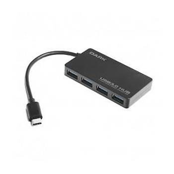 Dark Connect Master U31X4, USB3.1 Type-C to 4 Port Type-A HUB