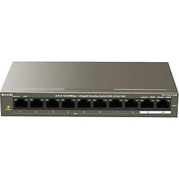 Tenda TEF1110P 10 Port 8 Port Poe+ 10-100 + 2 Port 10-100-1000 Switch