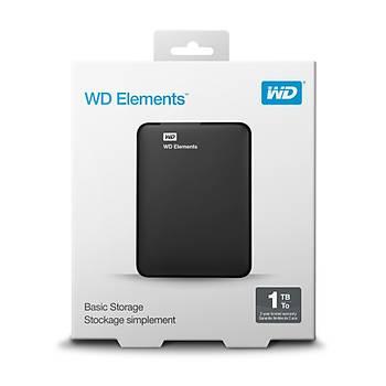 Wd 1Tb 2.5 Usb3.0 Wdbuzg0010Bbk Elements Siyah Harici Harddisk