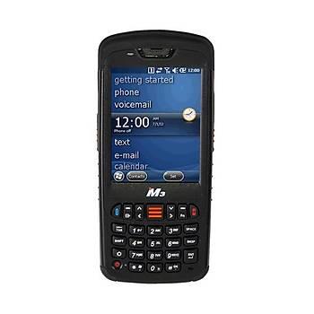 M3 Mobile Black WM 1D (WM, WÝFÝ, BT, 1D Scanner, Cradle,Ext Battery) El Terminali