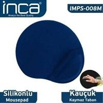 Inca IMPS-008M Sýlýcone Blue Mouse pad (kaymaz taban)