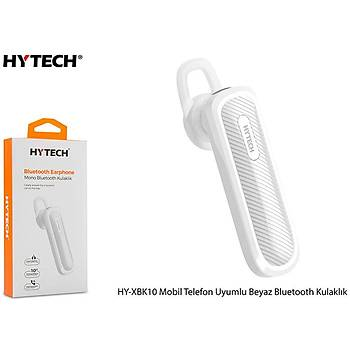 Hytech HY-XBK10 Mobil Telefon Uyumlu Beyaz Bluetooh kulaklýk