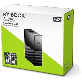 """Wd 12TB My Book WDBBGB0120HBK 3.5"""" USB 3.1 Harici Disk"""