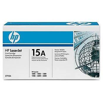 HP 15A Black Siyah 2.500 Sayfa Toner C7115A