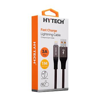Hytech HY-X310 3A iPhone Lightning 1M, Gri Þarj Kablosu