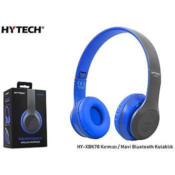 Hytech HY-XBK70 Siyah-Mavi Bluetooth Kulaklýk
