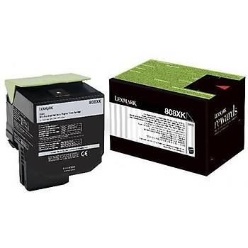 Lexmark 80C8XK0 8.000 Sayfa Black Siyah Toner CX510 808XK