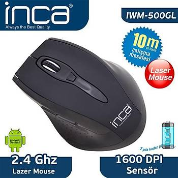 Inca IVM-500GL 500GL 2.4GHZ Wireless 1600DPÝ Mouse