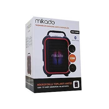 Mikado MD-116BT 15W 2 Adet Kablosuz EL+Baþ-Ense Mikrofonlu USB-SD Bluetoothlu Toplantý Anfisi