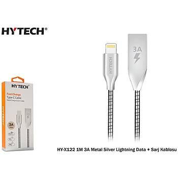 Hytech HY-X122 1M 3A Metal Silver Lightning Data