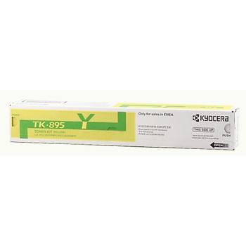 Kyocera TK-895Y Yellow Sarý Orjinal Fotokopi Toneri FS-C8020-8025-8520-8525 6.000 Sayfa