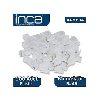 INCA CAT6 RJ-45 PLASTÝK 100LÜ KONNEKTÖR