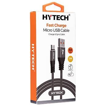 Hytech HY-X210 3A Micro Usb 1m Gri Data + Sarj Kablosu