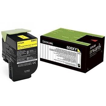 Lexmark 80C8XY0 4.000 Sayfa Yellow Sarý Toner CX510 808XY
