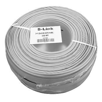 S-link SL-CT2250 2+1 (2x0,50) 250M CCTV Kablo