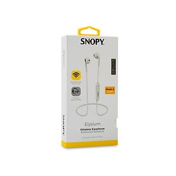 Snopy SN-BT160 Elysium Mobil Telefon Uyumlu Bluetooth Kulak içi Beyaz Kulaklýk