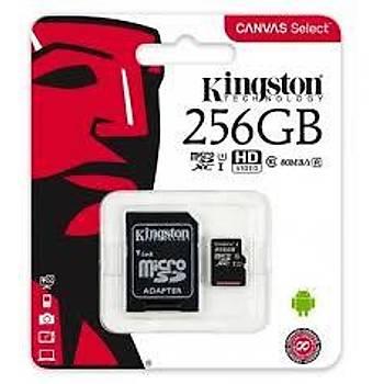 Kingston SDCS2 256GB microSDHC Canvas Select Plus 100R A1 C10 MicroSD Hafýza Kartý