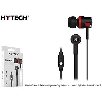 Hytech HY-X06 Mobil Telefon Uyumlu Siyah-kýrmýzý kulaklýk