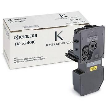 Kyocera TK-5240K Black Siyah Orjinal Fotokopi Toneri Ecosys M5526cdn-5526cdw P5026cdn-5026cdw 4.000
