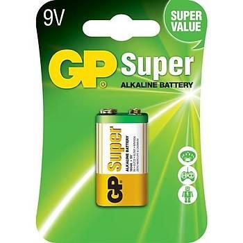 Süper Alkalin 9V Alkalin Tekli Blister Pil GP1604A-U1