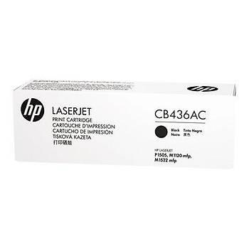 HP Taahhütlü Black Siyah 2.000 Sayfa Toner CB436AC