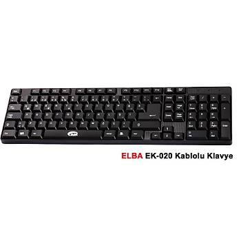Elba EK-020 Q Usb Siyah Türkçe Kablolu Standart Klavye
