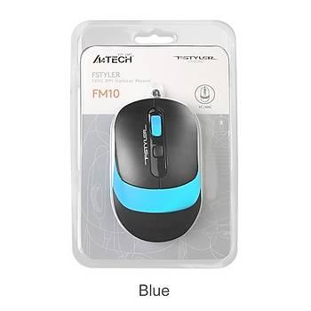 A4 Tech Fm10 Usb Fstyler Mavi Optik 1600 Dpý Mouse
