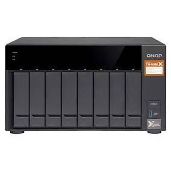 Qnap TS-832X-2G 8-Bay 64-bit NAS 2x10 GbE(SFP+) Network,Quad Core 1.7 GHz, 2GB RAM, 2 x 1 GbE