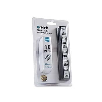 S-LÝNK SL-U110 (SL-H105) 10 PORT USB 2.0 ADAPT HUB