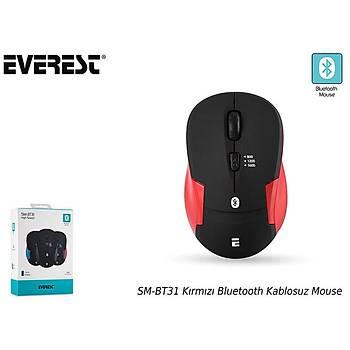 Everest SM-BT31 Kýrmýzý Bluetooth Kablosuz Mouse