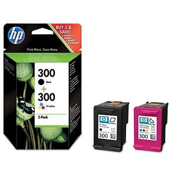 HP 300 Black-Color Siyah-Renkli Multi Paket CN637E