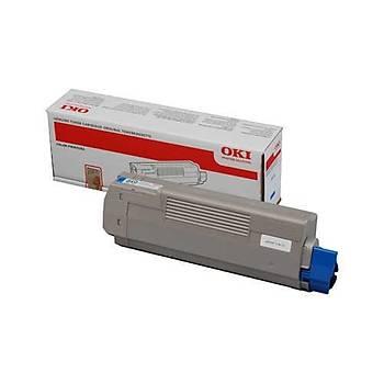 Oki C532-542 MC563-573 6bin Sayfa Cyan Mavi Toner 46490631