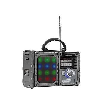 Mikado MDR-9BT Serenad-K Siyah-Kýrmýzý Usb-TF Destekli Bluetooth Speaker