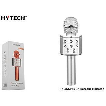 Hytech HY-XKSP35 Gri  Karaoke Mikrofon