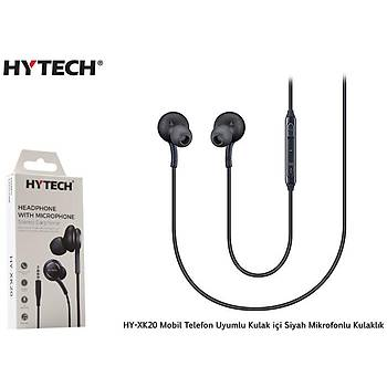 Hytech HY-XK20 Mobil Telefon Uyumlu Kulak içi Siyah kulaklýk